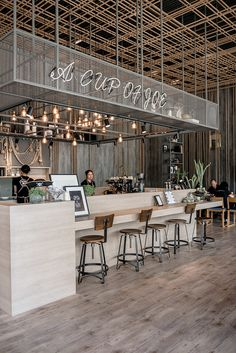 cafe restaurant Captain M Caf by Architects on Behance Cafe Shop Design, Coffee Shop Interior Design, Bakery Design, Restaurant Interior Design, Coffee Design, Beach Restaurant Design, Bakery Shop Interior, Bistro Interior, Decoration Restaurant