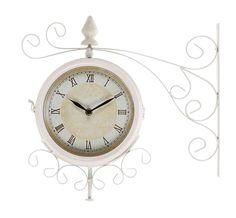 Clock - White Metal