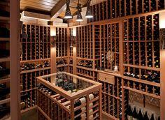 Ciematic have 7 years experience in custom wine rack market, we use High-end mortise-tenon structure, eco-friendly paint, conatct us to rebuild your cellar. Caves, Wine Cellar Basement, Ranch House Remodel, Home Wine Cellars, Wine Cellar Design, Wine Display, In Vino Veritas, Pergola Designs, Wine Storage