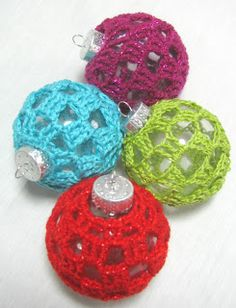 crocheted ornaments