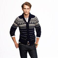 J.CrewAlpaca Fair Isle shawl-collar sweater $168 #christmas #wishlist #giftguide