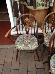 Set 6 Ercol fleur de lys dining chairs (4 chairs 2 carvers) with cushions | eBay