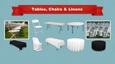 Big Blue Sky Party Rentals & Supplies Los Angeles - TABLE & CHAIR Party Rentals in Los Angeles & LA County