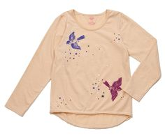 skylar graphic t - birds/stars