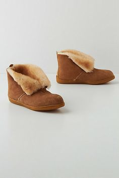 Sheepskin Slipper Booties #anthropologie