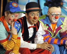 Ringling Bros. and Barnum & Bailey clowns look on during Ringling Bros. and Barnum & Bailey Clown College Auditions held for the first time ...