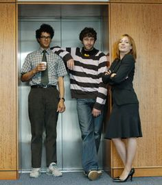 the IT Crowd--- Moss, Roy and Jen. One the funniest shows ever. British Humor, British Comedy, Richard Ayoade, The White Princess, It Crowd, Uk Tv, Comedy Tv, Nerd Love, Great Tv Shows