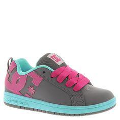 a6163a922b DC Court Graffik Skate Shoe - Girls  Lt Grey Turquoise