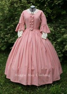 A beautiful reproduction of an 1860s gown - by maggiemayfashions