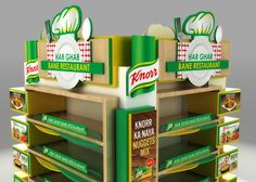 Knorr 360 Display on Behance Display Ads, Pop Display, Display Design, Pos Design, Stand Design, Point Of Sale, Point Of Purchase, Cafe Shop Design, Food Poster Design