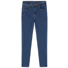 Double-Button Skinny Denim Jeans (290 ZAR) ❤ liked on Polyvore featuring jeans, pants, blue skinny jeans, skinny leg jeans, zipper skinny jeans, blue jeans и 5 pocket jeans
