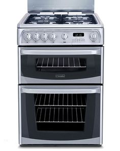NEW! Cannon double oven gas cooker in cool silver