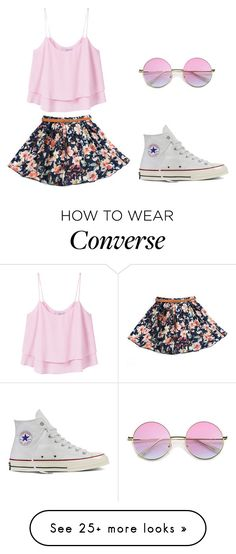 """Summer Outfit"" by amari-lashae on Polyvore featuring MANGO, Converse and…"
