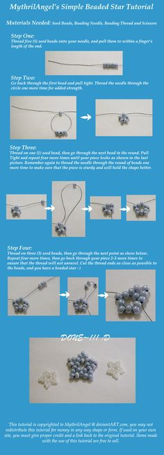 Simple Beaded Star Tutorial by ~MythrilAngel on deviantART