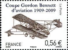 Stamp: Gordon Bennett Cup (France) (Aviation) Yt:FR 4376,Mi:FR 4709,Sn:FR 3690,WAD:FR119.09