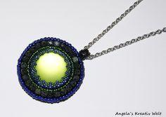 """Halskette """"Green - Blue"""" von Angela`s Kreativ Welt auf DaWanda.com"""