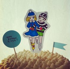 Illustrated Cake Toppers
