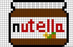 Nutella perler bead pattern