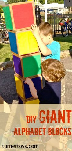 DIY Giant Alphabet Blocks