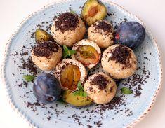 Slivkové gule - chudnutie - zdravá strava Stevia, Baked Potato, Food And Drink, Potatoes, Sweets, Baking, Fruit, Breakfast, Ethnic Recipes
