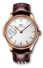 IWC watches Portuguese Minute Repeater (RG / White / Leather)
