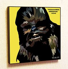 Chewie Chewbacca StarWars Super Hero Motivational Quotes Wall Decals Pop Art Gifts Portrait Framed Famous Paintings on Acrylic Canvas Poster Prints Artwork Geek Decor Wood ** You can find out more details at the link of the image.