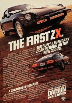 """1979 Datsun 280 ZX Car Ad """"First""""-Original-Stills Of Time"""