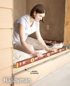 A seasoned pro shows you how to replace a front door, step-by-step, including measuring and ordering a new door, removing the old one and ensuring that the Home Renovation, Home Remodeling, Covered Front Porches, Entry Doors, Toddler Bed, Interior Decorating, Storage, Construction, Furniture