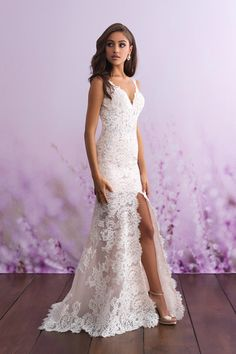 There's no better way to share your attention to detail and fashion than an Allure romance wedding dress. Our stunning selection of allure romance bridal dresses are sure to have you looking your best on your special day! Wedding Dress Pictures, Sexy Wedding Dresses, Bridal Dresses, Bridal Gown, Wedding Gowns, Civil Wedding Dresses, Wedding Dresses For Petite Women, Casual Lace Wedding Dress, Wedding Dress For Short Women