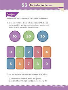 De todas las formas - Desafíos matemáticos 1ro Bloque 5 ~ Apoyo Primaria