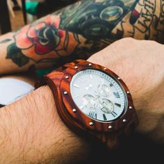 A wooden watch, made from the most beautiful natural wood! Will look awesome on your beloved ones! Wooden Watch, Handmade Wooden, Vintage Looks, Natural Wood, Gifts For Him, Watches For Men, Most Beautiful, Mens Fashion, Stylish