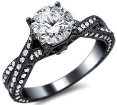 18k black gold engagement ring- OH MY GOSH, I HAVE FOUND THE ONE.... WOW