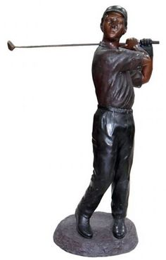 Life Size Bronze Golf Statue For Outdoors. Available At AllSculptures.com