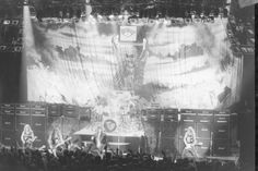 Iron Maiden in concert during the 1980s.