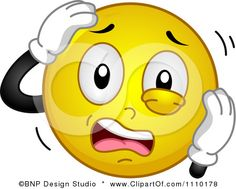 Stressed Emoticon | Stressed Smiley Face Clip Art