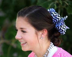 Black and white chevron Bow on Etsy, $12.00