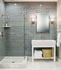 Bathroom Renovation Ideas: bathroom remodel cost, bathroom ideas for small bathrooms, small bathroom design ideas Grey Bathroom Tiles, Small Bathroom With Shower, Modern Bathroom Design, Bathroom Interior Design, Bathroom Flooring, Master Bathroom, Bathroom Designs, Small Bathtub, Flooring Tiles