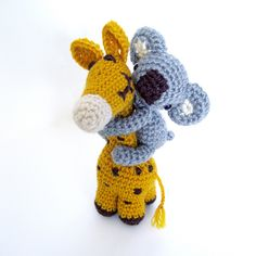 Happy Pair - Crochet Giraffe and Koala - Irina Antonyuk [irenestrange]  [per previous pinner]
