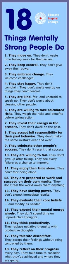 18 Things Mentally Strong People Do More