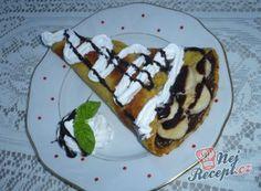 Zebra palačinky | NejRecept.cz Kefir, Nutella, Waffles, Breakfast, Food, Morning Coffee, Essen, Waffle, Meals