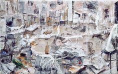 Miquel Barceló - L'Atelier aux sculptures (The Sculpture Studio) Action Painting, Spanish Painters, Spanish Artists, Jackson Pollock, Pablo Picasso Cubism, Miquel Barcelo, Baroque Painting, Collage Techniques, Art Brut