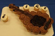 Guitar Cupcake Cake
