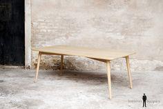 Pieds table bois sur-mesure compas vintage made france.GENTLEMEN DESIGNERS // Mobilier scandinave et création sur-mesure, fabrication française artisanale