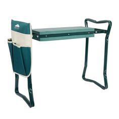 Garden Kneeler and Seat Folding Stainless Steel Garden Stool with Tool Bag EVA Kneeling Pad Gardening Gifts Supply - green / United States
