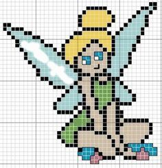 Tinker Bell hama perler beads pattern