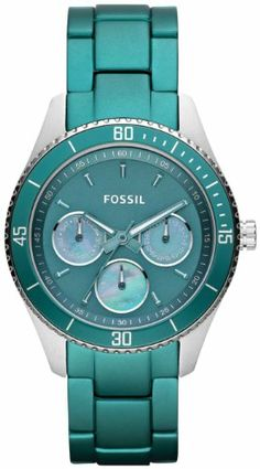Fossil Stella Aluminum and Stainless Steel Watch Teal