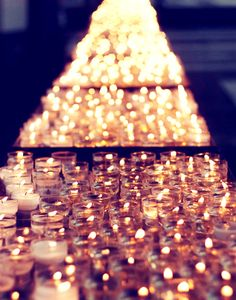 Love the look of these clustered tea lights.