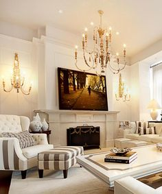 .Love the painting/photgraph over the mantel