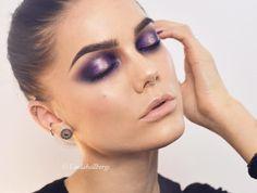 « Purple eyes using The self made palette from @anastasiabeverlyhills #fotd #makeup #mua »