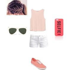 Pink summer by smith-emily-1 on Polyvore featuring polyvore, fashion, style, Zara, ONLY, Vans and Ray-Ban